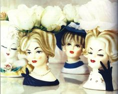 Lady vases, I have some of these from my grandmother dated 1956!