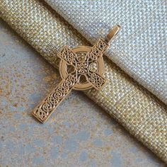 Celtic Cross Pendant, Large, Bronze Pendant, Celtic, Christian Cross, Ring, Long Cross, 45x25mm, 5mm Fixed Bail, Tribal, Druid, One Pendant by WanderlustWorldArts on Etsy