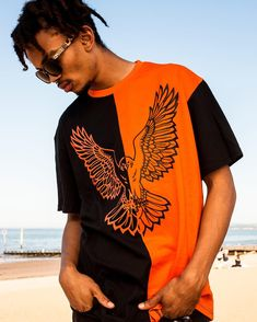 Corvid Culture are producers of quality durable premium limited edition urban streetwear clothing and lifestyle fashion for the alternative individual & the independent psyche. Streetwear Brands, Streetwear Fashion, Orange Is The New Black, Oversized Shirt, Free Uk, Color Blocking, Color Pop, Mandala, Street Wear