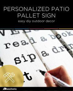 DIY Patio Pallet Sig