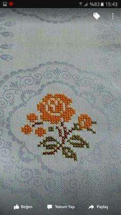 Etamin işlemeli havlu kenarları ve şemaları - Cross Stitch Cards, Cross Stitch Rose, Cross Stitch Borders, Cross Stitch Flowers, Cross Stitch Designs, Cross Stitching, Cross Stitch Patterns, Crewel Embroidery, Hand Embroidery Patterns