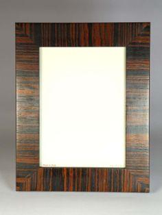 #portafoto in legno moderno e di #design. #Zebrano. Artigianato Italiano