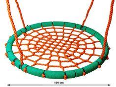 Hojdacie hniezdo NEST LUX 100 cm oranž-zelen.