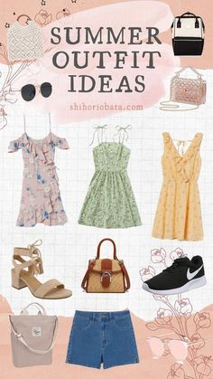 15 Beautiful Summer Outfit Ideas Summer outfits, summer style, summer fashion, summer dresses, outfit ideas for summer Green Floral Dress, Orange Dress, 30 Outfits, Summer Outfits, Summer Dresses, Diy Fabric Pouches, Block Dress, Dress Hats, High Waisted Shorts
