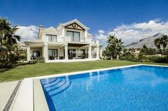 Luxury Villa in Nueva Andalucia | 3.490.000 € Exceptional luxury villa situated in one of the very best locations in Marbella just minutes to the shops, restaurants and facilities of Nueva Andalucia and Puerto Banus. Taking full advantage of its commanding South facing position overlooking the golf valley to the sea