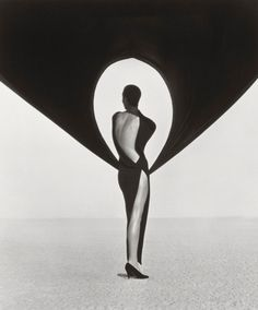 Photographs by Herb Ritts    Versace Dress, Back View, El Mirage, 1990.    Versace campaign, shot in El Mirage, California.