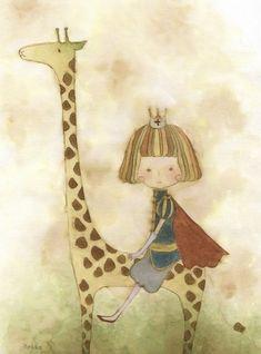 我的王子,你也骑着长颈鹿来吧。【阿团丸子】