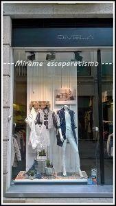 Blancos y azules para escaparate moda mujer primavera-verano.   Escaparates de Primavera