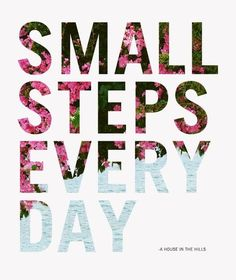 Small steps...
