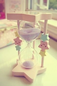 Sabe aqueles objetos fofinhos que não dá pra resistir? ♥ Kawaii Twinkle Stars hourglass  #cute #kawaii #twinklestars