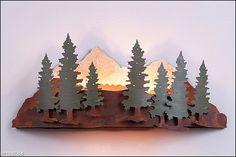 Wood Mountain Sconce - Pine Tree