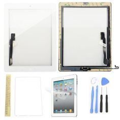 NUOVO Originale Apple iPad Air 2 Front Touch Screen Digitizer Vetro Pannello Bianco