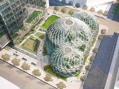 Projeto de escritório sustentável da Amazon em Seattle
