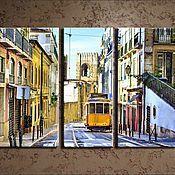 Картины и панно ручной работы. Ярмарка Мастеров - ручная работа Трамвай счастья. Handmade.