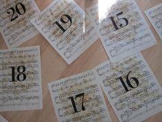 Design Megillah: Wedding Table Numbers