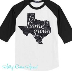 Texas Shirt  Texas Baseball Tee  Home Grown Shirt  Texas