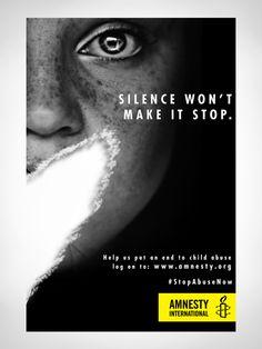 Amnesty International - Stop Abuse Now (Spec Ads) on Behance