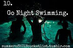 Swim @ night