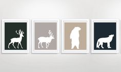 Set of Four Forest by MayFrenzyDesigns