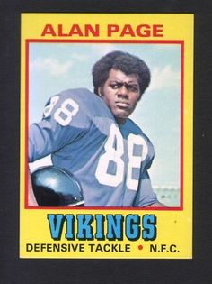 1974 Wonder Bread Football 17 Alan Page Minnesota Vikings | eBay