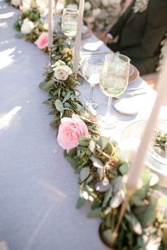 Garland wedding centerpiece - Sparrow and Gold Photography