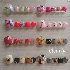 Asian Nail Art, Asian Nails, Cute Toe Nails, Cute Nail Art, Pedicure Designs, Toe Nail Designs, Aloha Nails, Wonder Nails, Work Nails