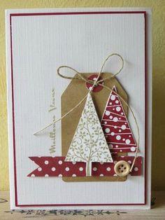 Christmas Cards 2018, Simple Christmas Cards, Christmas Paper Crafts, Homemade Christmas Cards, Xmas Cards, Homemade Cards, Holiday Cards, Theme Noel, Candy Cards