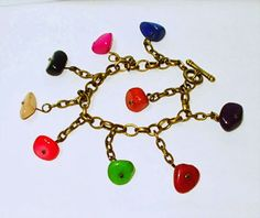 El Secreto Encanto De La Diva - Funny bracelet in bronze and ceramic stones.