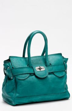 Turquoise and teal bags are in this season!