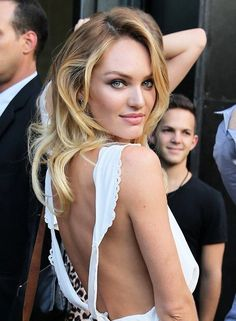 classy-lovely:  lovely—delight:     September 8 2014 | Candice Swanepoel after DVF spring 2015 Fashion show NYFW