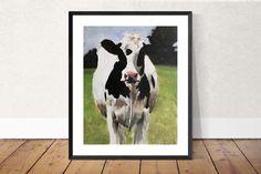 Cow Painting, Cow Art, Cow PRINT - Cow Oil Painting, Holstein Cow, Farm Animal Art, Farmhouse Art, Prints of Farm Animals, Farm Wall Art by JamesCoatesFineArt2 on Etsy Fabric Canvas Art, Easy Canvas Art, Animal Art Prints, Cow Painting, Art Deco Posters, Cow Art, Art Journal Techniques, Original Paintings, Oil Paintings