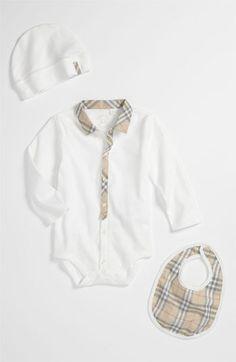 Burberry Bodysuit Set (Baby) | Nordstrom