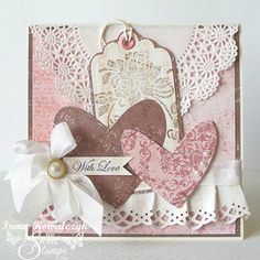 SweetStamps Challenge 1/28/14 Hearts and Lace; DT Irena
