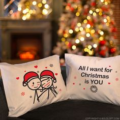 BoldLoft All I Want Christmas is You Couples Pillowcases : Make your Christmas comfy, warm and full of love with these whimsical Christmas pillowcases! Christmas Gifts For Him, Christmas Couple, Valentines Day Gifts For Him, Merry Christmas, Couple Pillowcase, Whimsical Christmas, Body Pillow Covers, Gifts For Your Boyfriend, Romantic Gifts