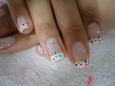 Pastel Daisies Roses Neon Stripes Chevron Light Purple Bunny Ears Yellow & Gray Gold Leaf Bunnies & Butterflies Polka Dots Dotticure Cross Design Bunny Tips Peeping Bunny Faith Related Posts Awesome Halloween Nail Art Designs. Fabulous Nails, Gorgeous Nails, Pretty Nails, Funky Nails, Love Nails, Diy Easter Nails, Polka Dot Nails, Polka Dots, Nails For Kids