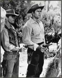 """This episode is Cheyenne's entry into the universal male television writer fantasy, the inadvertently acquired female slave. (See Laredo episode """"The Bitter . Peter Brown Actor, Clint Walker Actor, Cheyenne Bodie, James Dean Photos, Film Icon, Tv Westerns, Classic Movie Stars, Old Shows, Western Movies"""
