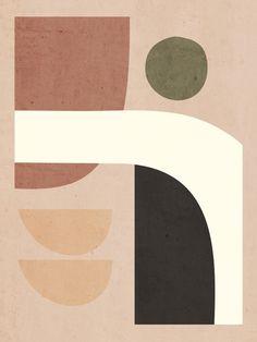 Geometric Painting, Geometric Wall, Abstract Shapes, Abstract Wall Art, Coral Wall Art, Coral Walls, Boho Aesthetic, Minimalist Wallpaper, Acrylic Box