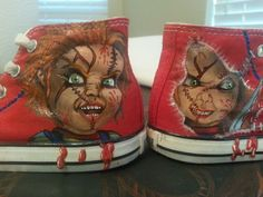 Hand Painted Good Guy Chucky Shoes