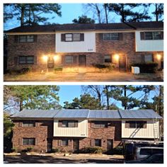 Metal roofing: before & after