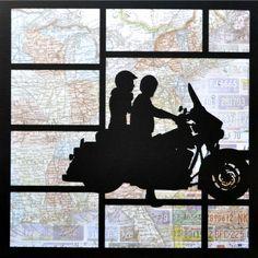 EZLaserDesigns : It's the Journey Art scrapbook overlay travel motorcycle