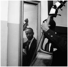 Percy Heath (Modern Jazz Quartet) Concertgebouw Amsterdam in November 1956 Photo Hans Buter