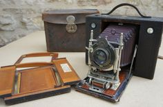 Ancien appareil photo KODAK  N°3 CARTRIDGE  Rochester USA. Objectif BAUSH et LOMB.