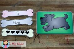 In My World Preschool Number 5 dog and bone activity  No printable for this but cute and could make on my own.  could use in small group/circle time activity.