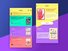 Book Swap App - via @designhuntapp