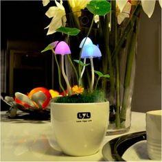 Light Sensitive Colors Changing LED Mushroom Night Light Decorative Lights Home Decor Gift at Banggood - Banggood Mobile