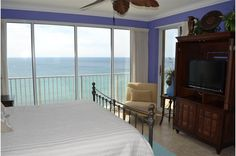Wake up to a stunning view at this spacious, beautifully decorated 2 bedroom condo rental in Boardwalk Beach Resort in Panama City Beach,  Florida.