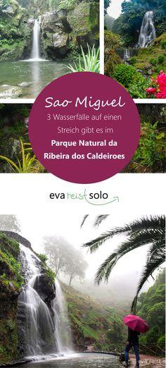Regentag auf Sao Miguel? Das macht nichts, denn diese Wasserfälle kann man sicher auch an nassen Tagen besuchen, da Sie in einem angelegten Park liegen und direkt an der Straße. Regenschirm nicht vergessen. Nicht viele Touristen verschlägt es bei miesem Wetter an diesen Ort. Also auch Kamera und einpacken und die Ruhe einfangen.  #wasserfall #saomiguel #soloreisen