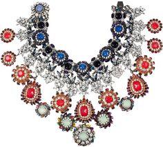 Erickson Beamon Jewelry   Erickson Beamon Modern Mughal 22karat Gold Plated Swarovski Crystal ...