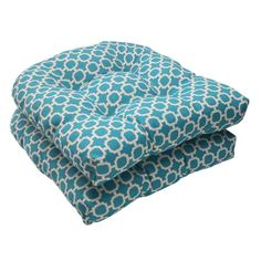 Pillow Perfect Outdoor Hockley Wicker Teal Seat Cushions (Set of - Overstock™ Shopping - Big Discounts on Pillow Perfect Outdoor Cushions & Pillows Outdoor Cushions And Pillows, Buy Pillows, Patio Chair Cushions, Patio Chairs, Outdoor Chairs, Outdoor Furniture, Adirondack Chairs, Dining Chair, Outdoor Decor