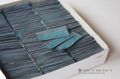 Where to buy personalized Clothing Labels…..by the 100′s not 1,000's  | Make It and Love It